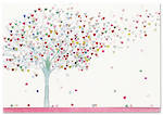 Note Cards Tree Of Hearts