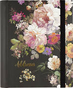 Large Address Book Midnight Floral