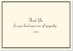 Thank You Note Cards Sympathy