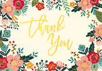 Thank You Note Cards Floral Frame