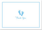 Thank You Note Cards Baby Step Blue