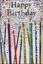 Jumbo Card Artisan Happy Birthday