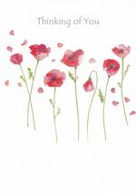 Sympathy Card Thinking of You Avocado Poppies
