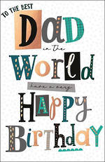 Dad Birthday Card Capisco Noir Best Dad