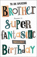 Brother Birthday Card Capisco Noir Fantastic