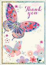 Thank You Card Dreamcatcher Butterfly