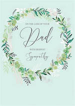 Sympathy Card Loss Of Dad Wreath