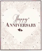 Anniversary Card Florali Large Heart