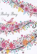 Mini Card Bunting Baby Boy