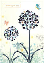 Sympathy Card Thinking of You Dandelions