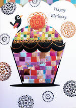 Mosaic Birthday Foiled Cupcake