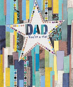 Dad Birthday Card Mosaic You're A Star
