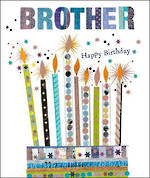 Brother Birthday Card Mosaic Candles