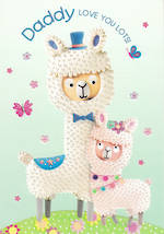 Dad Birthday Card Marzipan Toybox Lama
