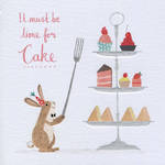 Periwinkle Bunny Time For Cake