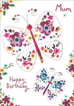 Mum Birthday Card Umami Butterflies