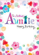 Aunt Birthday Card Umami Colourful