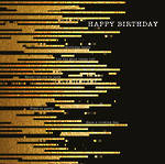 Word For Word Birthday Gold Lines