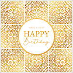 Word For Word Birthday Gold Tiles