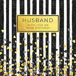 Husband Birthday Card Word For Word Stripes