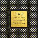 Dad Birthday Card Word For Word Dots