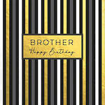 Brother Birthday Card Word For Word Stripes