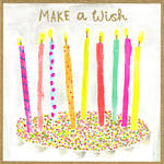 Gold Dust Birthday Candles