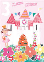 Birthday Age Card 3 Girl Hoopla Princess