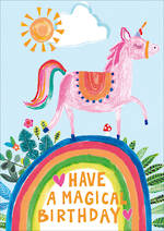 Kids' Birthday Card Hoopla Happy Birthday Unicorn