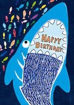 Kids' Birthday Card Hoopla Happy Birthday Shark