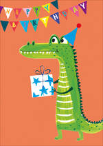 Kids' Birthday Card Hoopla Happy Birthday Crocodile