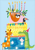 Kids' Birthday Card Hoopla Happy Birthday Cake
