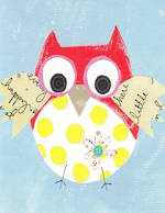 Mini Card Paper Salad Owl