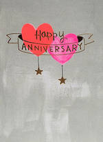 Anniversary Card Whisper Neon Hearts