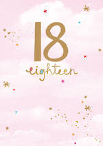 Birthday Age Card 18 Female Whisper