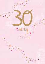 Birthday Age Card 30 Female Whisper