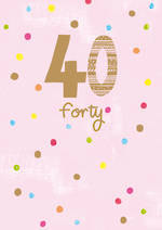 Birthday Age Card 40 Female Whisper