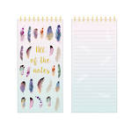 Pizazz Feathers List Pad