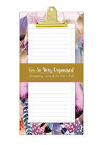 Pizazz Feathers Slim Shop List Pad