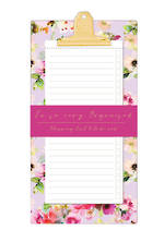Lilac Bloom Magnetic Shop List Pad
