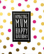 Mum Birthday Card Deck Chair Gold Dots