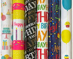 Roll Wrap Box of 24 Birthday Assorted 3m