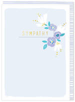 Sympathy Card Kirra Light Blue