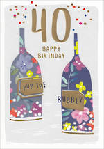 Birthday Age Card 40 Female Kirra Bubbly