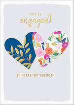 Engagement Card Kirra Engagement Two Hearts
