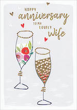 Anniversary Card Wife Kirra Glasses