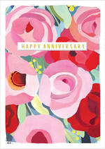 Anniversary Card Kirra Painted Flowers