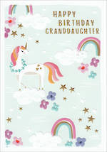 Grandaughter Birthday Card Kirra Birthday Unicorns