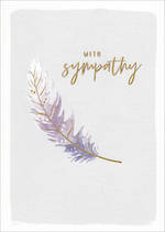 Sympathy Card Kirra Feather