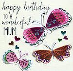 Mum Birthday Card Sherbet Dip Wonderful Mum
